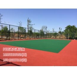 铜陵网球场塑胶跑道划线施工